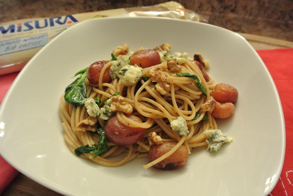 Roasted Grape and Gorgonzola Spaghettini
