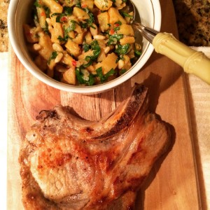 Pork Chop with Persimon Chutney