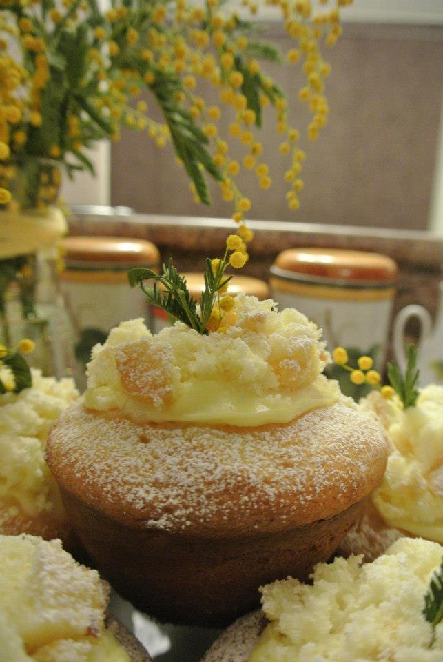 Mini mimosa cake
